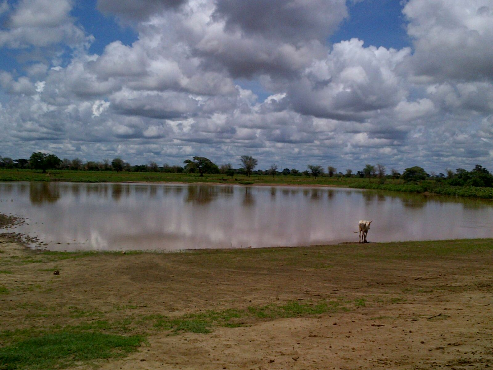 Water reservoir in Zambia